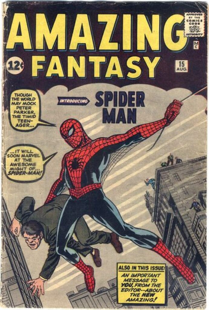 Spider-Man made his initial appearance in Stan Lee's Amazing Fantasy #15, which was written and illustrated by Steve Ditko.